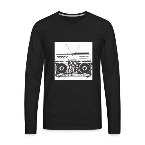 rockthedub.com logo - Men's Premium Long Sleeve T-Shirt