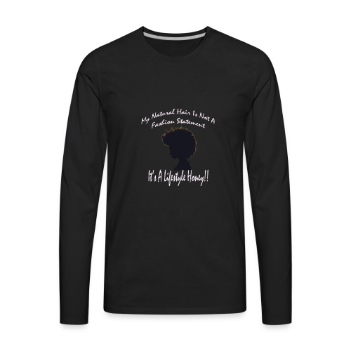Natural Life Style - Black & Light Pink - Men's Premium Long Sleeve T-Shirt