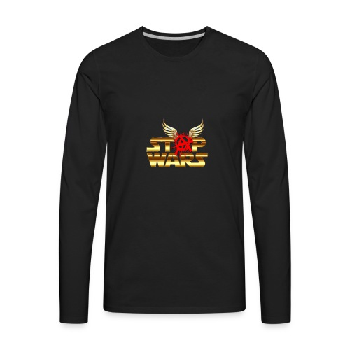 Stop Wars. Wing's and Anarchy - Men's Premium Long Sleeve T-Shirt