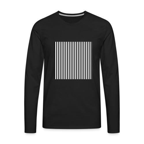 Black & White Stripes - Men's Premium Long Sleeve T-Shirt