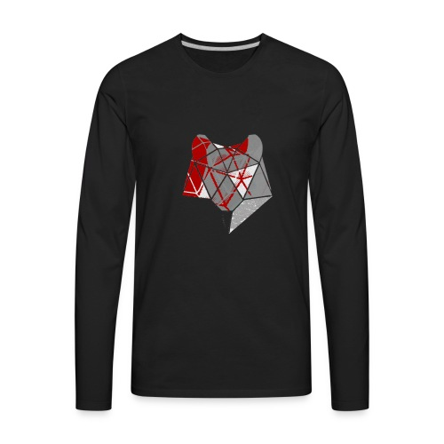 Abstract Wolf - Men's Premium Long Sleeve T-Shirt