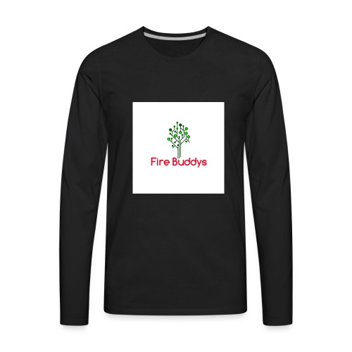 Fire Buddys Website Logo White Tee-shirt eco - Men's Premium Long Sleeve T-Shirt