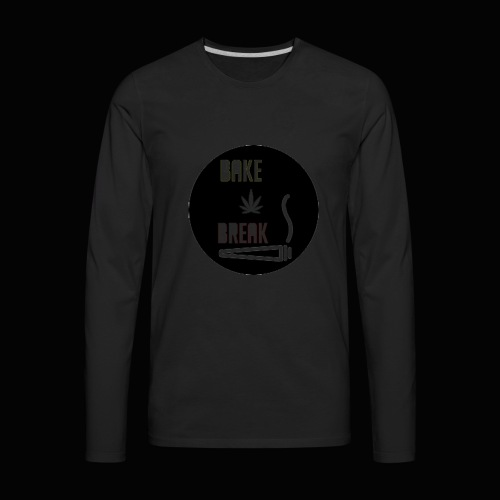 Bake Break Logo Cutout - Men's Premium Long Sleeve T-Shirt