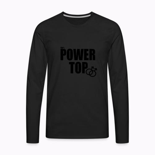 100% Power Top - Men's Premium Long Sleeve T-Shirt