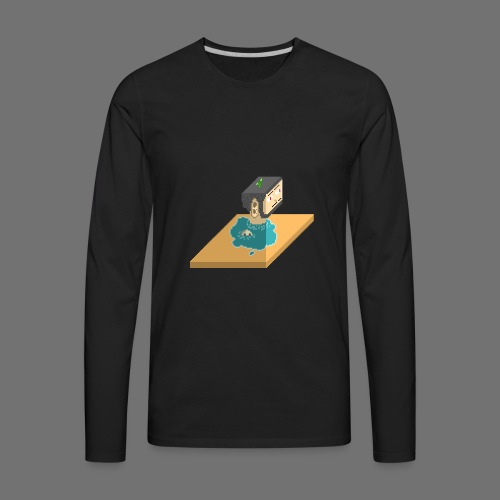 3D WillHead - Men's Premium Long Sleeve T-Shirt