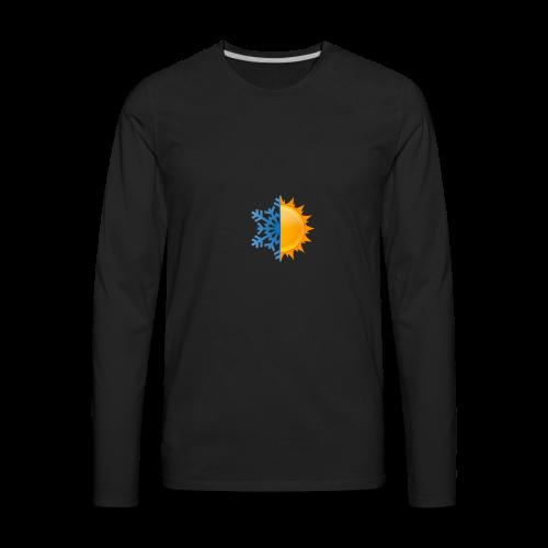 Half-n-Half - Men's Premium Long Sleeve T-Shirt