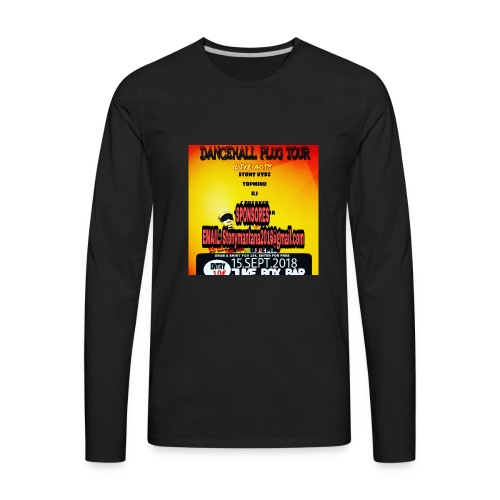 Dancehall plug tour Germany t-shirts TWG MUSIC - Men's Premium Long Sleeve T-Shirt