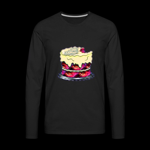 The Baked Space Cake logo - Men's Premium Long Sleeve T-Shirt