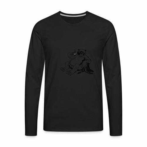 Fort Rock Roasters Coffee Bear - Men's Premium Long Sleeve T-Shirt