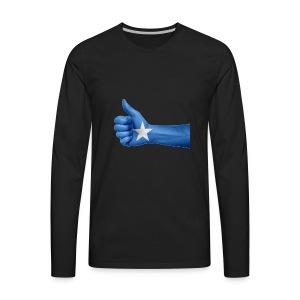 somalia - thumps Up - Men's Premium Long Sleeve T-Shirt