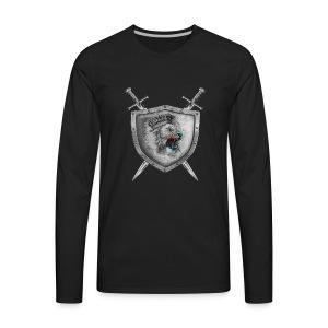 Lion Head Crest - Men's Premium Long Sleeve T-Shirt