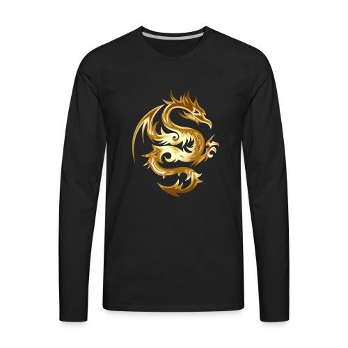 dragon tribal - Men's Premium Long Sleeve T-Shirt