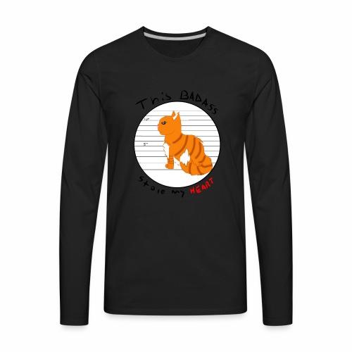 Badass kitty - Men's Premium Long Sleeve T-Shirt