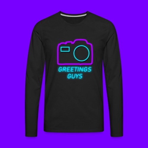 GREETINGS MERCH! - Men's Premium Long Sleeve T-Shirt