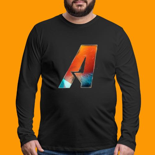 Acombative Multi colored logo - Men's Premium Long Sleeve T-Shirt