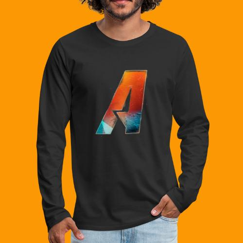 Acombative Multi colored logo - Men's Premium Long Sleeve T-Shirt