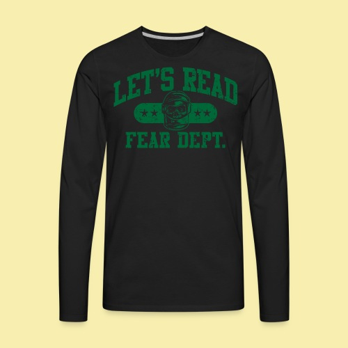 Athletic Green - Inverted for Dark Shirts - Men's Premium Long Sleeve T-Shirt