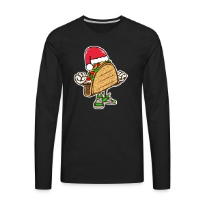 Taco Santa Hat Shirt - Men's Premium Long Sleeve T-Shirt