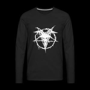 Logo Goat Only White - Men's Premium Long Sleeve T-Shirt