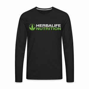 White and Green HL Logo - Men's Premium Long Sleeve T-Shirt
