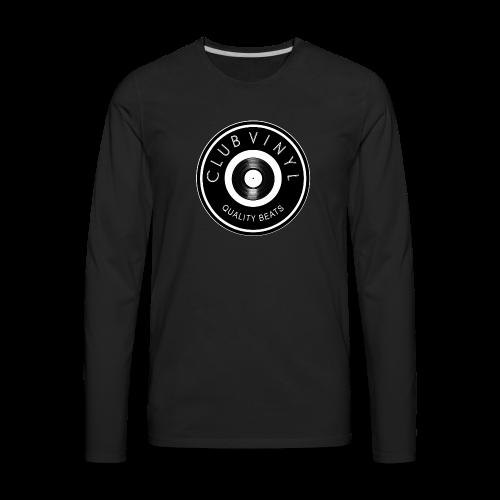 CLUBvinyl RECORDwhite - Men's Premium Long Sleeve T-Shirt