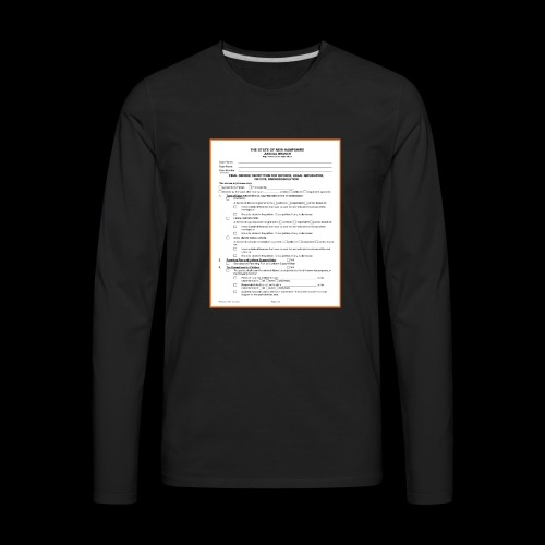 divorce papers - Men's Premium Long Sleeve T-Shirt