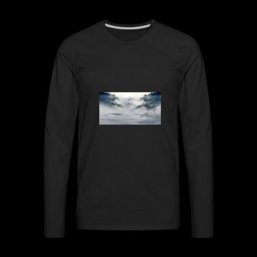 wolf_winter - Men's Premium Long Sleeve T-Shirt