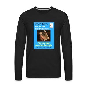 We are here POCC Pentecostals - Men's Premium Long Sleeve T-Shirt