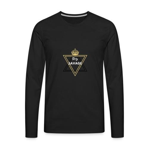 Stay Savage 3 - Men's Premium Long Sleeve T-Shirt