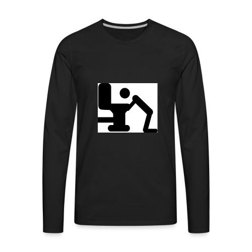 bigstock Toilet 3556831 - Men's Premium Long Sleeve T-Shirt
