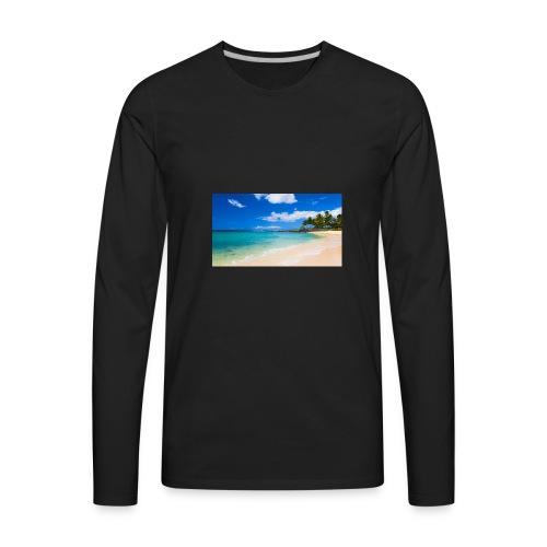 poipu beach park hawaii 0 - Men's Premium Long Sleeve T-Shirt