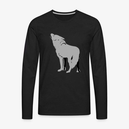 Dope Wolf Hoodie For Kids - Men's Premium Long Sleeve T-Shirt