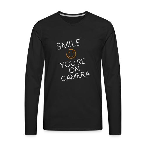 Smiley Cam Alert - Men's Premium Long Sleeve T-Shirt