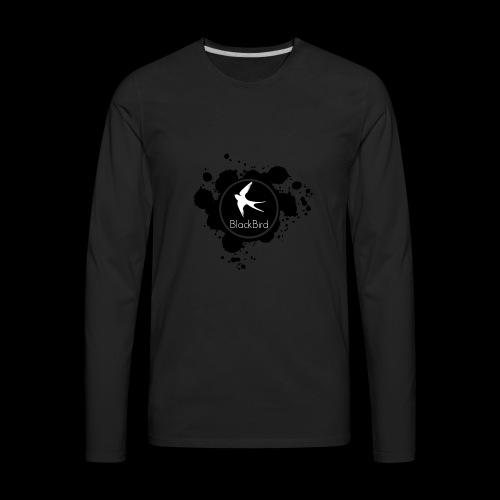 BlackBird Ink Spill Logo - Men's Premium Long Sleeve T-Shirt