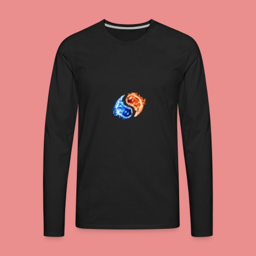 fire and ice - Men's Premium Long Sleeve T-Shirt
