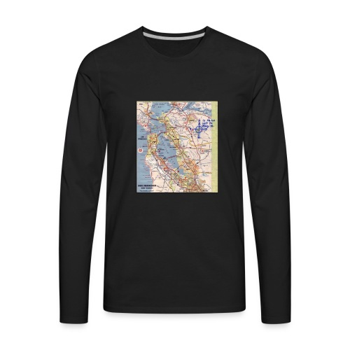 Phillips 66 Zodiac Killer Map June 26 - Men's Premium Long Sleeve T-Shirt