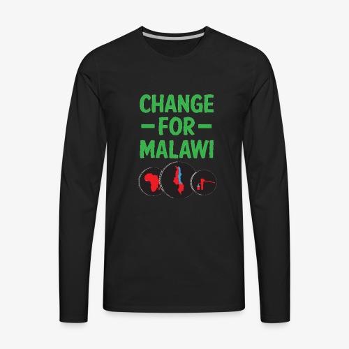 Change for Malawi Logo Shirt - Men's Premium Long Sleeve T-Shirt