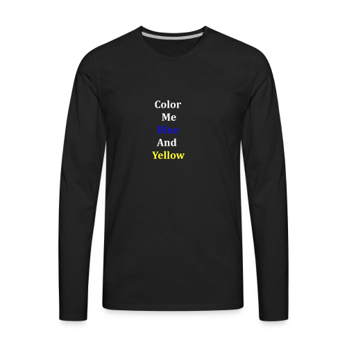yellowandblue - Men's Premium Long Sleeve T-Shirt