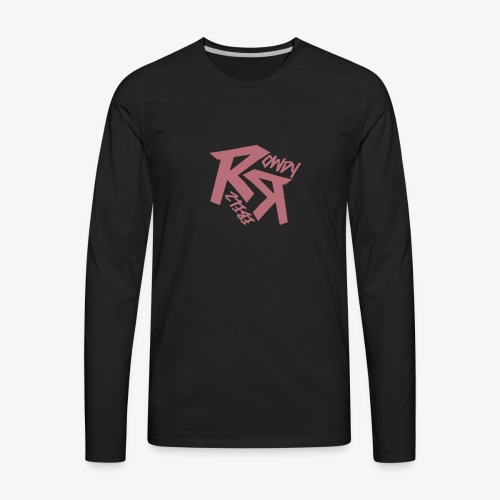 Rowdy Rebelz Rose Gold - Men's Premium Long Sleeve T-Shirt