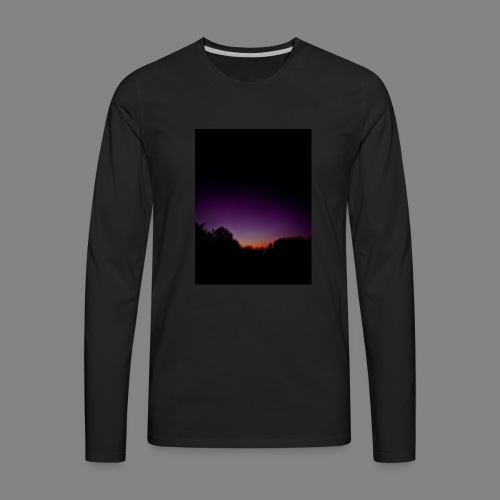 purple sunrise - Men's Premium Long Sleeve T-Shirt