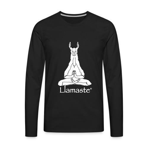 Llamaste Hoodie Logo - Men's Premium Long Sleeve T-Shirt