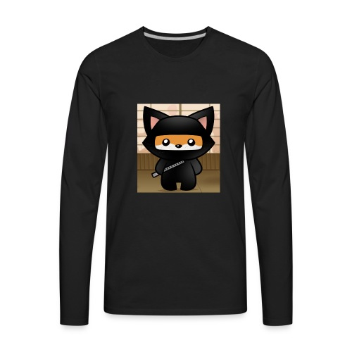 how-to-draw-a-ninja-fox_1_000000018972_5 - Men's Premium Long Sleeve T-Shirt
