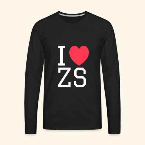 I ♥ ZS Black - Men's Premium Long Sleeve T-Shirt