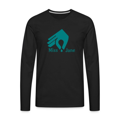 Miss Jane Seed - Teal - Men's Premium Long Sleeve T-Shirt