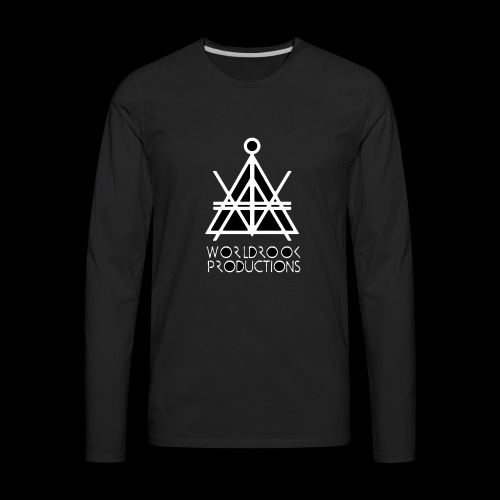 Worldrook Traditional, Black Fill - Men's Premium Long Sleeve T-Shirt