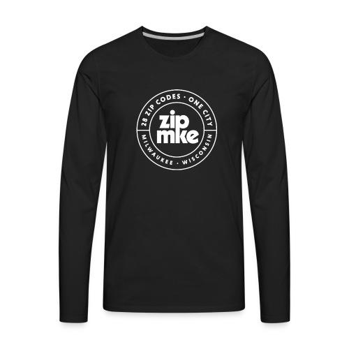 ZIP MKE full logo (white) - Men's Premium Long Sleeve T-Shirt