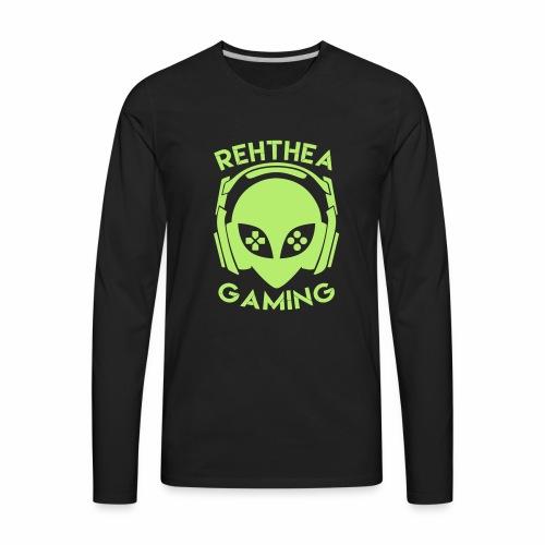 Alien Head Rehthea Gaming - Men's Premium Long Sleeve T-Shirt