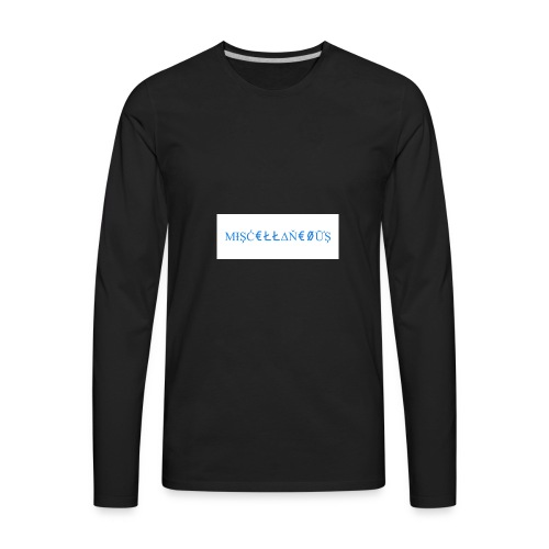 Miscellaneous White&Blue Design - Men's Premium Long Sleeve T-Shirt
