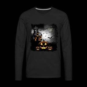 Halloween Pumpkin Castle - Men's Premium Long Sleeve T-Shirt