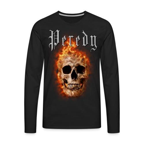 Peredy Fire Skull - Men's Premium Long Sleeve T-Shirt